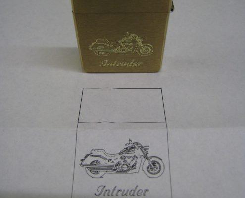 Feuerzeug, Motorradsymbol